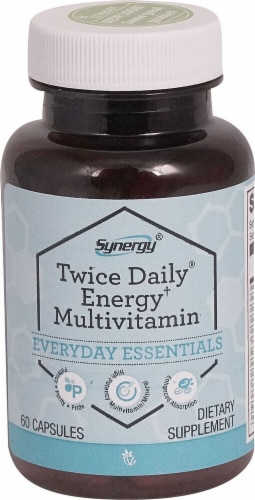 Vitacost  Synergy Twice Daily® Energy† Multi-Vitamin Perspective: front