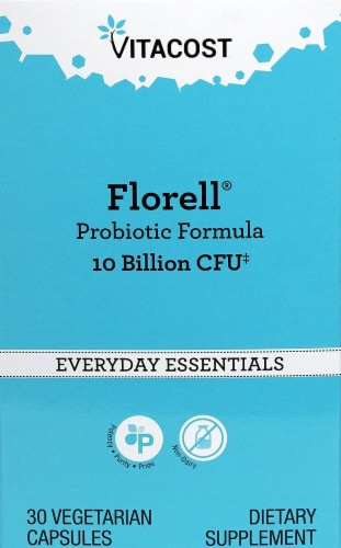 Vitacost Florell® Probiotic Formula Vegetarian Capsules Perspective: front