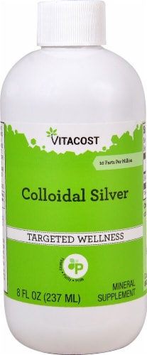 Vitacost Colloidal Silver Mineral Supplement Perspective: front