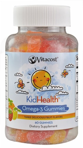 Vitacost KidHealth Omega-3 Gummies Perspective: front