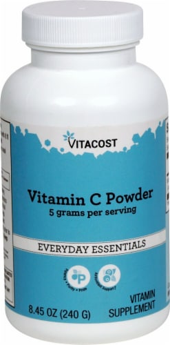 Vitacost Vitamin C Powder Supplement Perspective: front