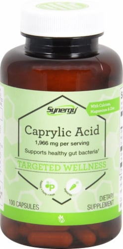 Vitacost Synergy Caprylic Acid Capsules Perspective: front