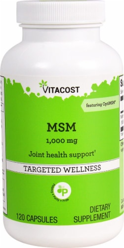 Vitacost MSM Joint Health Support Capsules 1000mg Perspective: front