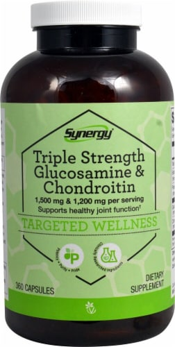 Vitacost  Synergy Triple Strength Glucosamine & Chondroitin Perspective: front