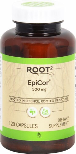 Vitacost ROOT2 EpiCor Capsules 500mg Perspective: front