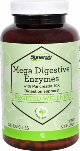 Vitacost Synergy Mega Digestive Enzymes Targeted Wellness Capsules Perspective: front