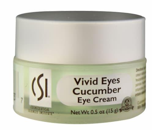 CSI  Vivid Eyes Cucumber Eye Cream - Non-GMO Perspective: front