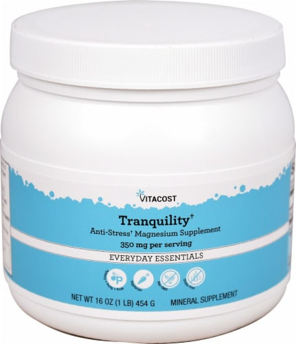 Vitacost Tranquility Unflavored Magnesium Mineral Supplement Perspective: front