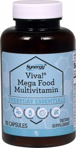 Vitacost Synergy Viva! Mega Food Multivitamin Capsules Perspective: front