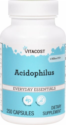Vitacost Acidophilus Everyday Essentials Capsules Perspective: front