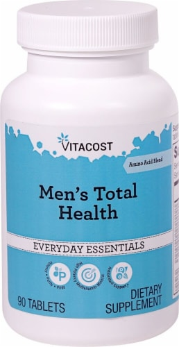 Vitacost  Men's Total Health Multivitamin Amino Acid Blend Perspective: front