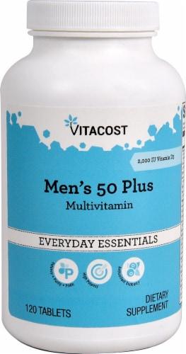 Vitacost Men's 50 Plus Everyday Essentials Multivitamin Perspective: front