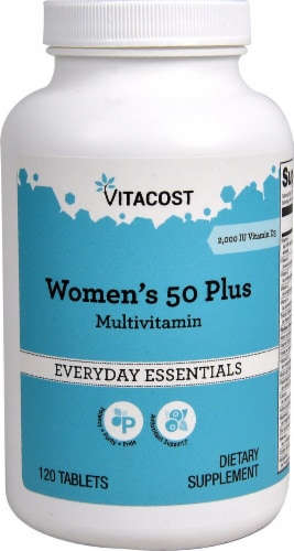 Vitacost  Women's 50 Plus Multivitamin Perspective: front