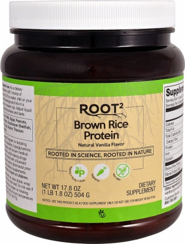 Vitacost Root2 Brown Rice Protein Perspective: front