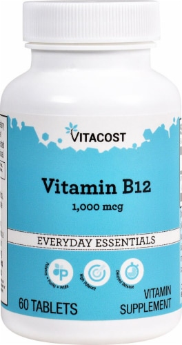 Vitacost Vitamin B12 Delayed Release Tablets Perspective: front