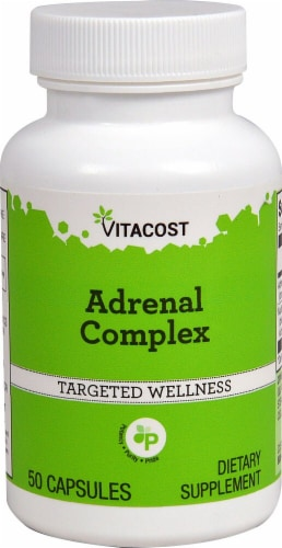 Vitacost Adrenal Complex Targeted Wellness Capsules Perspective: front