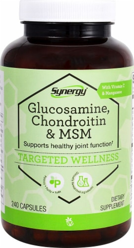 Vitacost Synergy Glucosamine Chondroitin & MSM Capsules Perspective: front