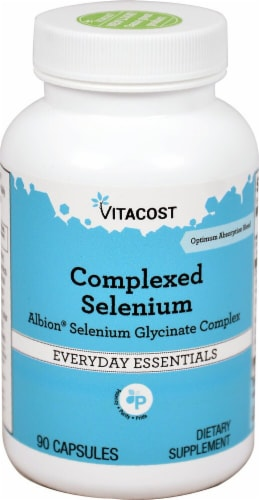 Vitacost Albion Selenium Glycinate Complex Dietary Supplement Perspective: front