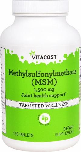 Vitacost Methylsulfonylmethane MSM Tablets 1500mg Perspective: front