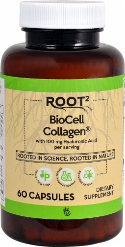 Vitacost Root2 Biocell Collagen Capsules Perspective: front