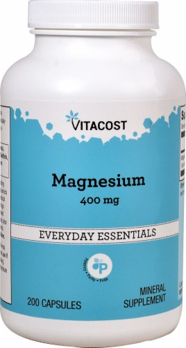Vitacost Magnesium Everyday Essentials Capsules 400mg Perspective: front