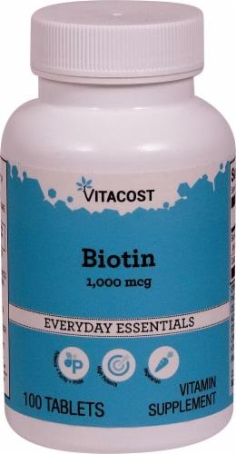 Vitacost Biotin Tablets 1000mcg Perspective: front