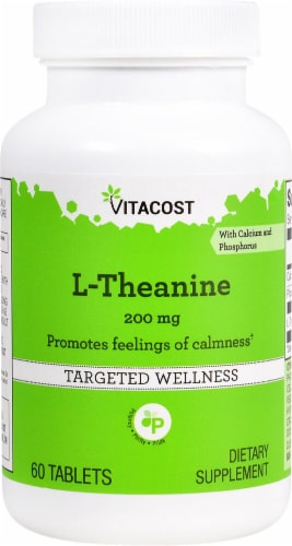 Vitacost  L-Theanine Perspective: front