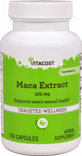 Vitacost Maca Extract Capsules 525mg Perspective: front