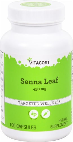 Vitacost Senna Leaf Capsules Perspective: front