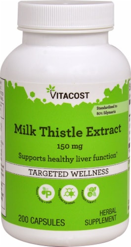 Vitacost  Milk Thistle Extract - Standardized Perspective: front