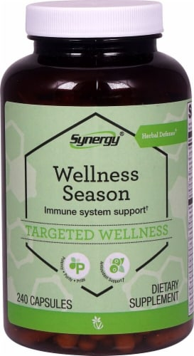 Vitacost Synergy Wellness Season Targeted Wellness Capsules Perspective: front