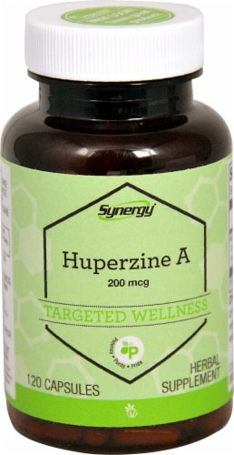 Vitacost Synergy Huperzine A Targeted Wellness Capsules Perspective: front