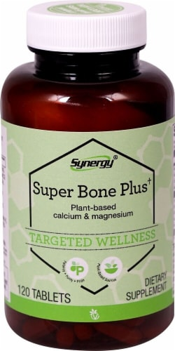Vitacost Synergy Super Bone Plus Tablets Perspective: front