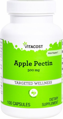 Vitacost Apple Pectin Targeted Wellness Capsules 500mg Perspective: front