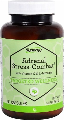 Vitacost Synergy Adrenal Stress-Combat Dietary Supplement Perspective: front