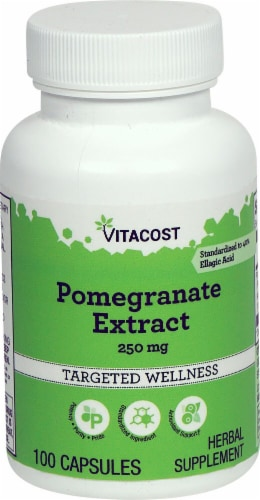 Vitacost Pomegranate Extract Targeted Wellness Capsules 250mg Perspective: front