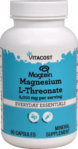 Vitacost Magtein™ Magnesium L-Threonate Mineral Supplement Capsules 2010mg Perspective: front