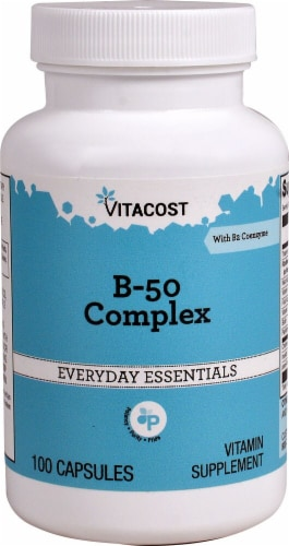 Vitacost B-50 Complex Capsules Perspective: front
