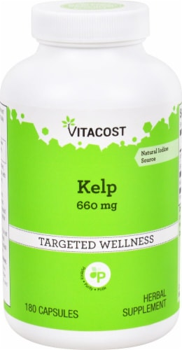 Vitacost Kelp Dietary Supplement 660mg Perspective: front