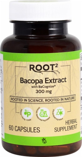 Vitacost  ROOT2 Bacopa Extract Featuring Bacognize Perspective: front