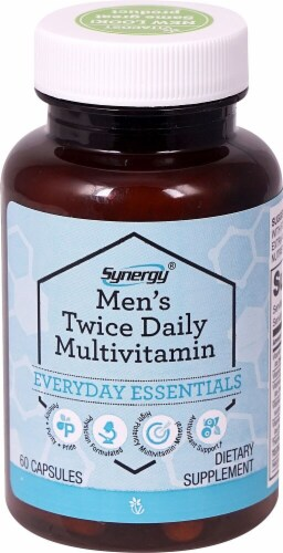 Vitacost  Synergy® Men's Twice Daily Multivitamin Perspective: front