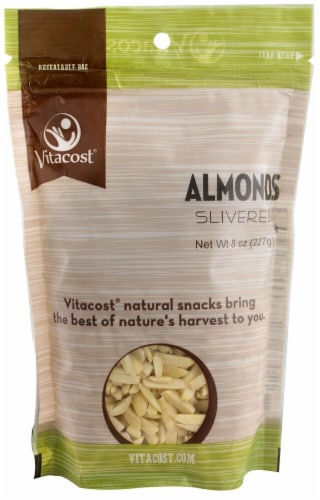 Vitacost Slivered Almonds Perspective: front