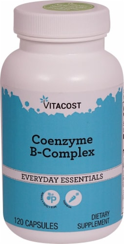 Vitacost Coenzyme B-Complex Capsules Perspective: front