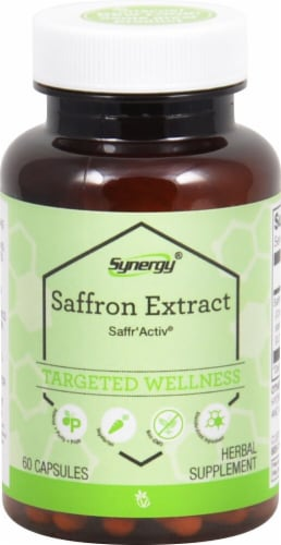 Vitacost Synergy Saffron Extract with Saffr'Activ Dietary Supplement Perspective: front