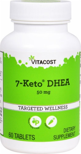 Vitacost 7-Keto DHEA Targeted Wellness Tablets 50mg Perspective: front