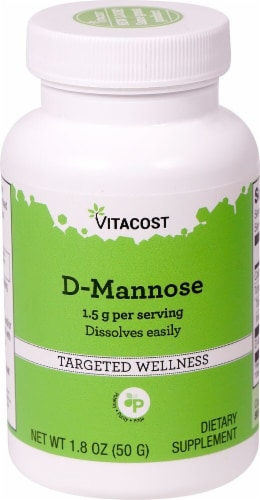 Vitacost D-Mannose Powder 1.5 g Perspective: front