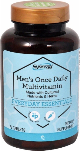 Vitacost Synergy Men's Once Daily Multivitamin Tablets Perspective: front