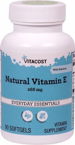 Vitacost Natural Vitamin E Softgels 400IU Perspective: front