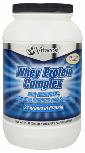 Vitacost  Whey Protein Complex Powder   Vanilla Perspective: front