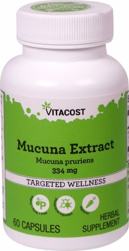 Vitacost Mucuna Extract Targeted Wellness Capsules 334mg Perspective: front